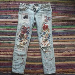 HAND PAINTED *LUCKYBRAND* Jeans